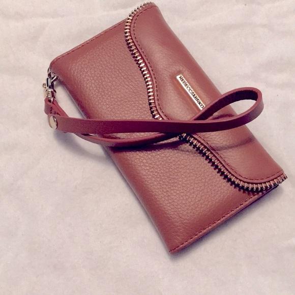 NWOT Rebecca Minkoff Leather iPhone7 Case Wristlet